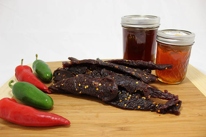 sweet spicy beef jerky