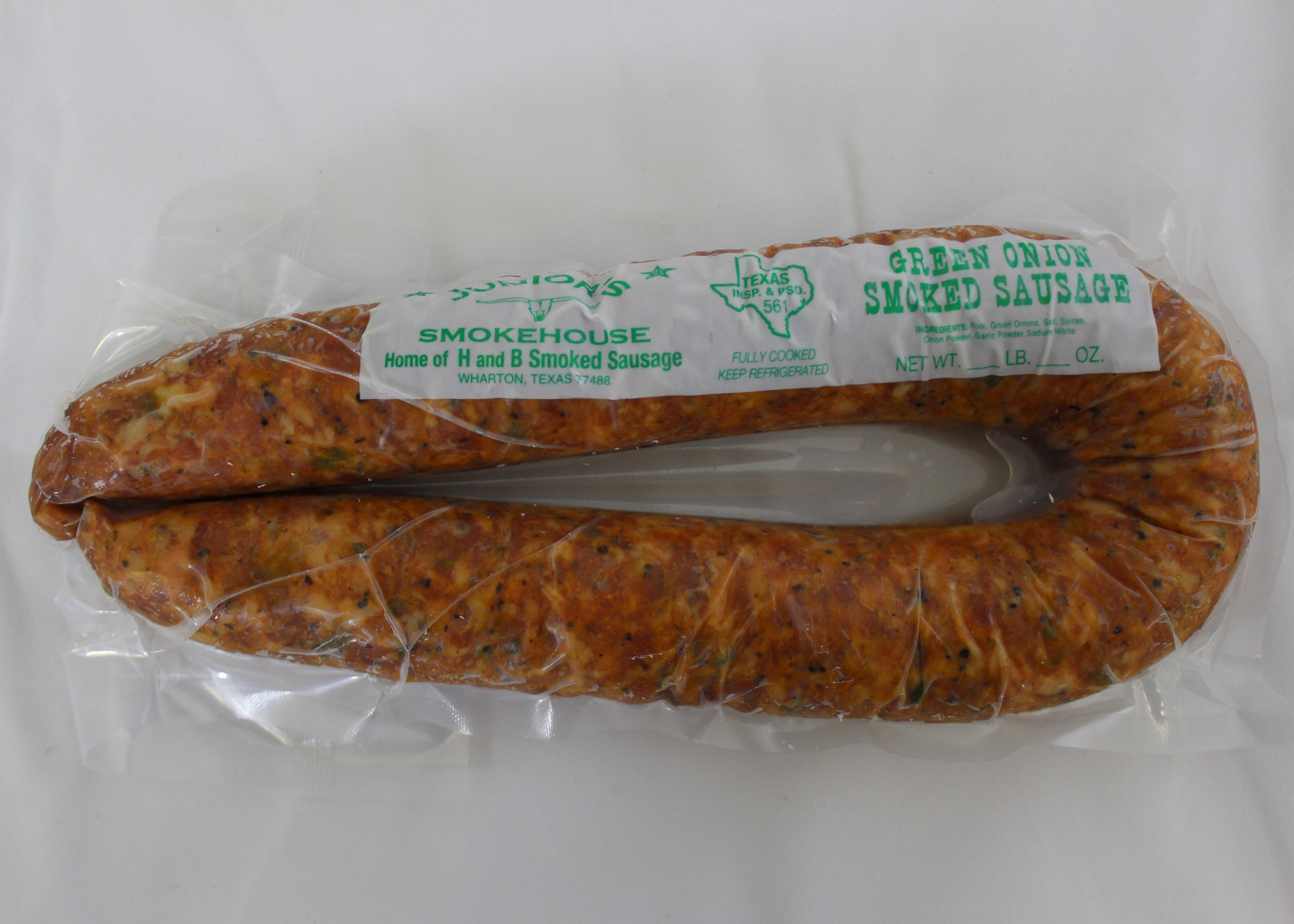 Green Onion Smoked Sausage - Juniors Smokehouse