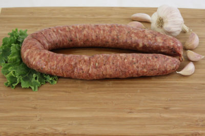 garlic pork beef sausage