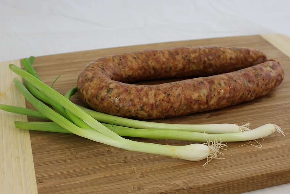 green onion sausage