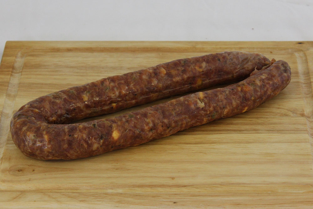 jalepeno cheese pork beef dried sausage