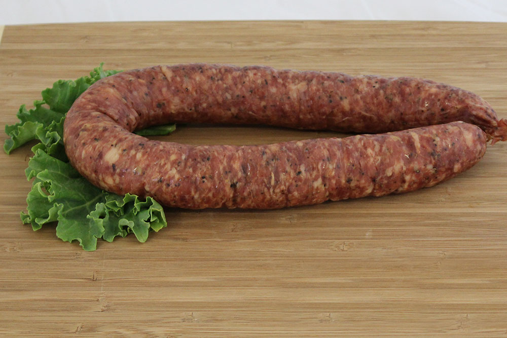 pork bison sausage