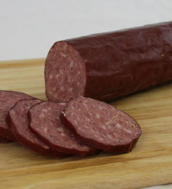 pork venison summer sausage boarded